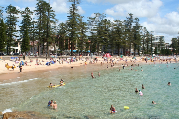 Going to the beach @ Manly
