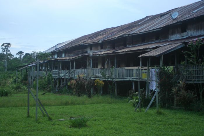 The longhouse of the Iban