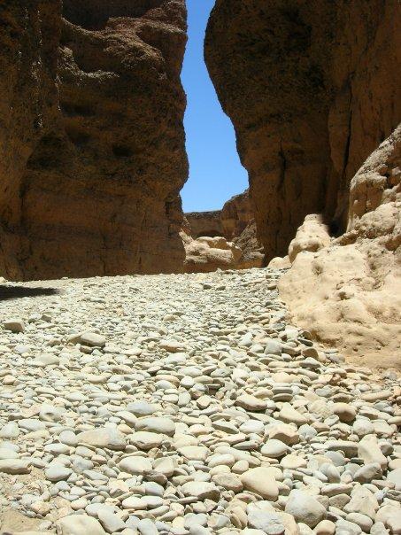 The rocky floor