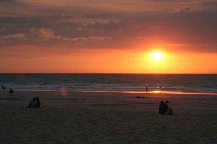 The west coast is the place to see the sun disappear into the sea. Broome is a well known spot for a spectacular sunset.