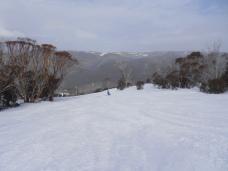Skiing under the rainbow