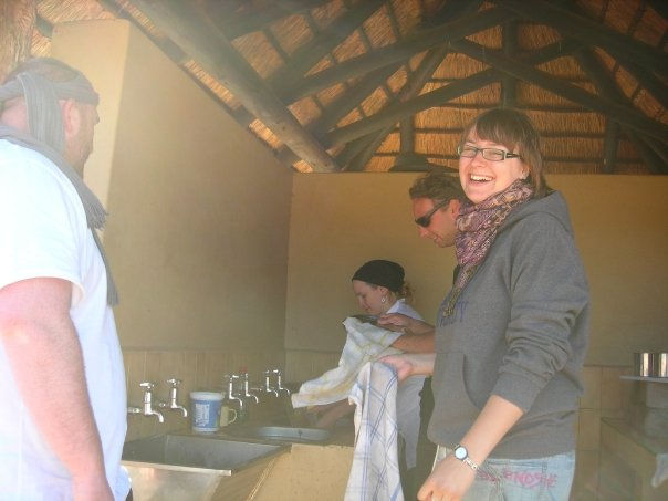 Even doing the dishes in fun on a safari