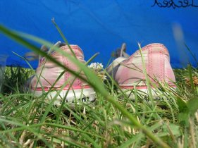 Shoes in the grass, Rock Werchter, Belgium