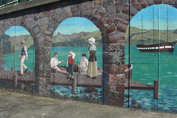 Wall in Lyttelton