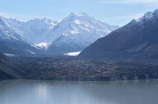 Tasman glacier, in all its blackness