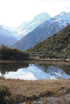 Red Tarns with Mt. Cook in the distance