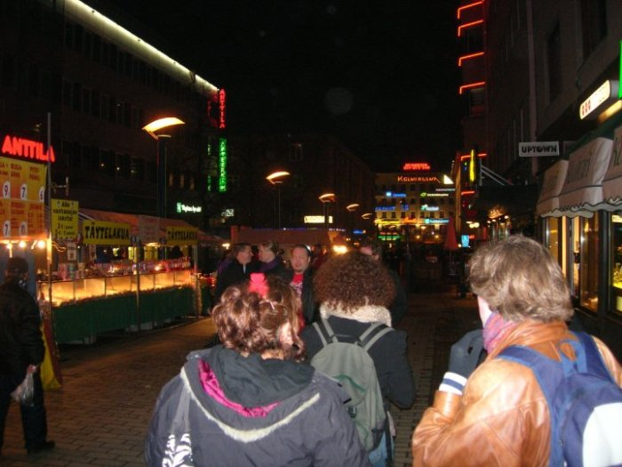 Off to party in the streets of Jyväskylä