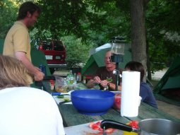 Dinner at the camp
