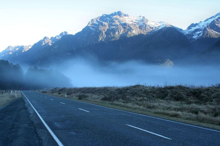 Some fog to make the trip more dramatic