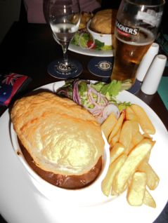 Amazing food in the Irish pub