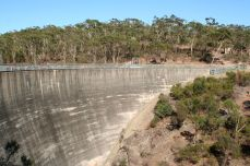 Most of the dam