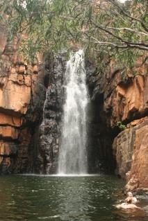 Southern rockhole waterfall