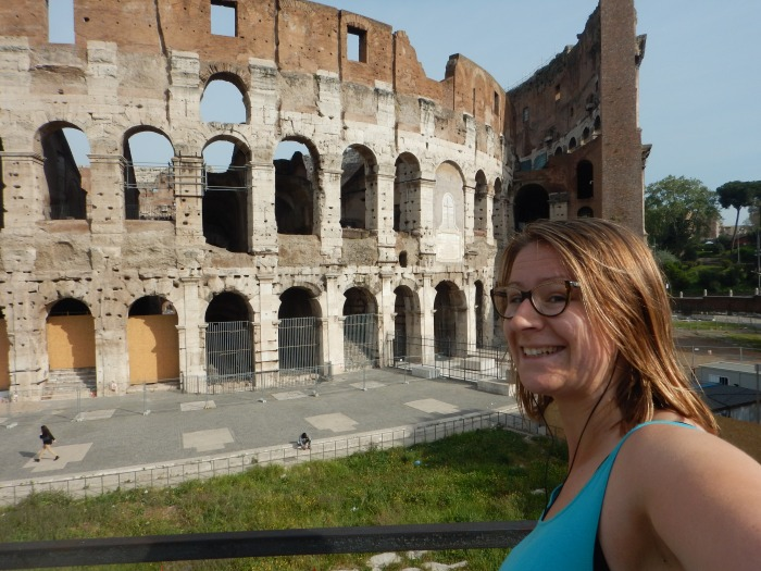 Running past the Coloseum!