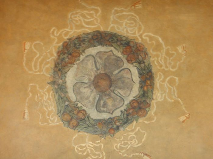 Detail in the ceiling of the outer castle