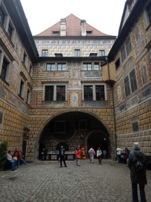 The courtyard in the castle where the tour started