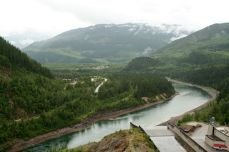 View from the Revelstoke dam