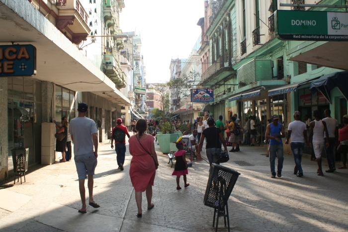 The shopping street in Havana