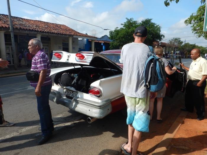 Arranging transport in Vinales