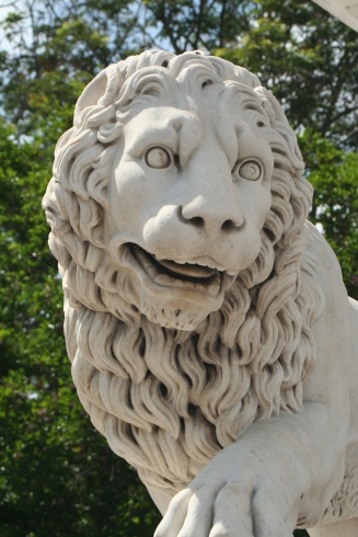 Lion at Plaza de Armas