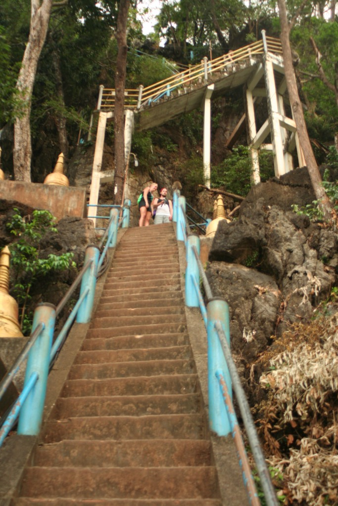 Pretty challenging, the steps and the monkeys