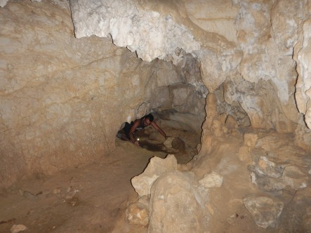 One of the area's caves
