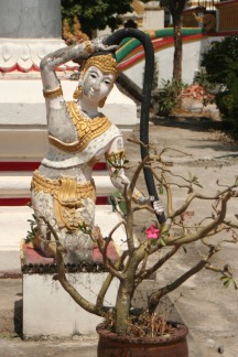Beautiful sculpture at one of the temples