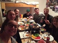 Christmas dinner with our ski family