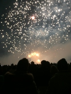 New Years fireworks in Kitzbühel
