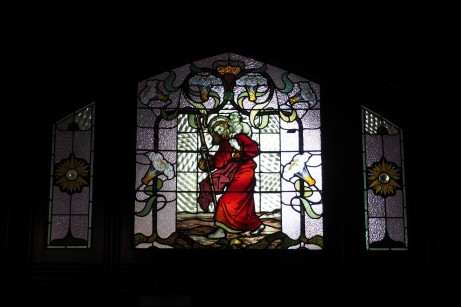 Stained glass window in the main entrance.