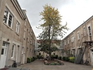One of the courtyards.