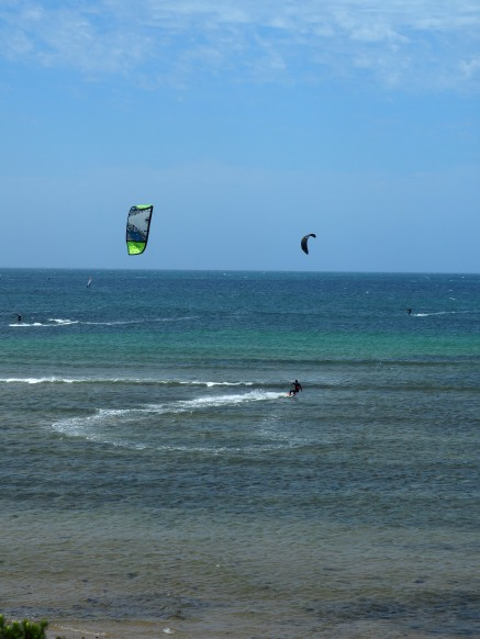 The kiters area