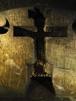 A carved out cross