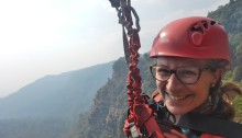 Ziplining Laos - flying